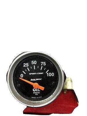 Autometer 3327 Sport-Comp Oil pressure Gauge  2-1/16 in., Electrical