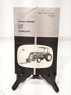 Vintage SEALED 1960s John Deere Dealer Corn Planters Predelivery Manual 494 495