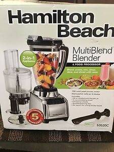 Hamilton beach multiBlend blender and food processor new in box