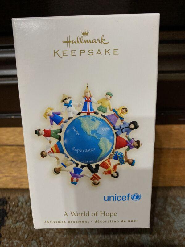 2007 Hallmark Ornament ~ A World of Hope UNICEF Children Holding Hands
