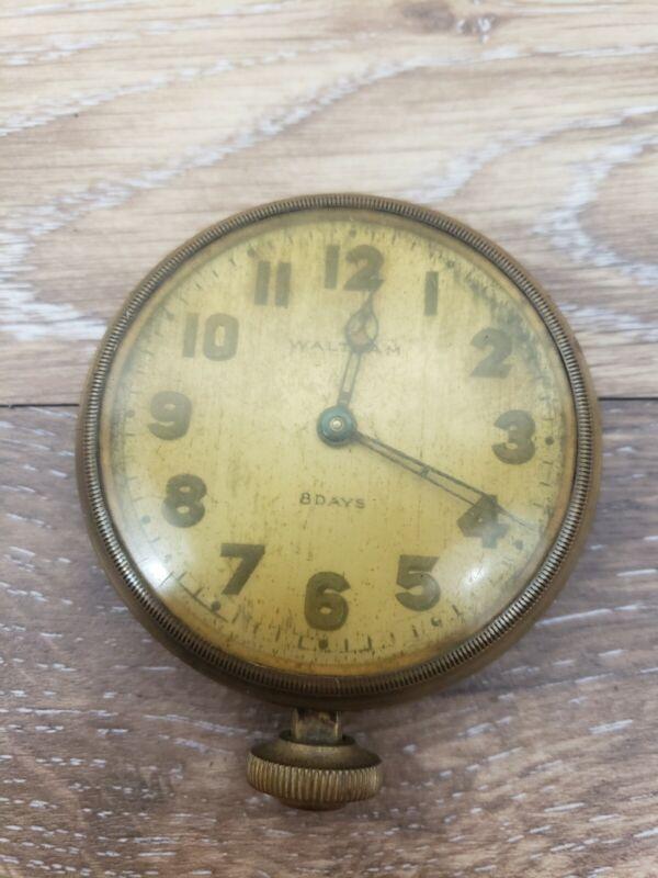 Antique 1920s Waltman 8 Days Auto Watch 37s 7 Jewels Not Running
