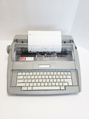 Brother Sx-4000 Portable Electronic Typewriter Working No Cover Free Shipping
