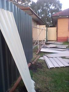 8 meters of fencing panels Newton Campbelltown Area Preview