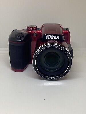 Nikon B500-RED Coolpix Wi-Fi Digital Camera (Red)