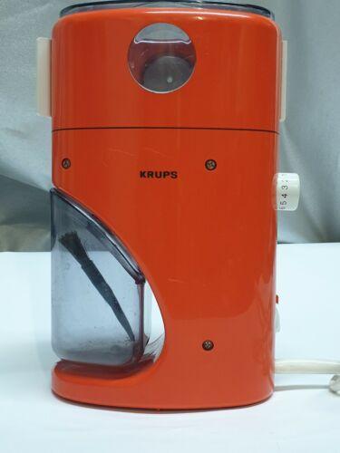 KRUPS COFFINA SUPER TYPE 223 A ELEKTRISCHE KAFFEEMÜHLE 6070 JAHRE ORANGE