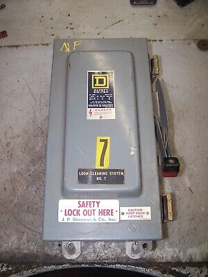 Square D 60 Amp Non-fused Safety Switch 600 Vac 50 Hp 3 Phase Nema 3r H362awk