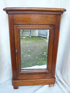 ancienne armoire de poupee ancienne en noyer ebay. Black Bedroom Furniture Sets. Home Design Ideas