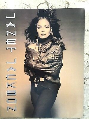 Janet Jackson   1990 Rhythm Nation Tour Concert Program Book Mint