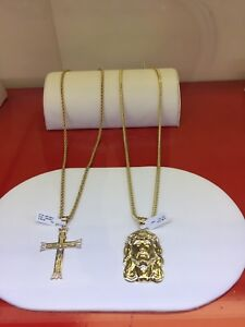 10kt gold and diamond chain sets