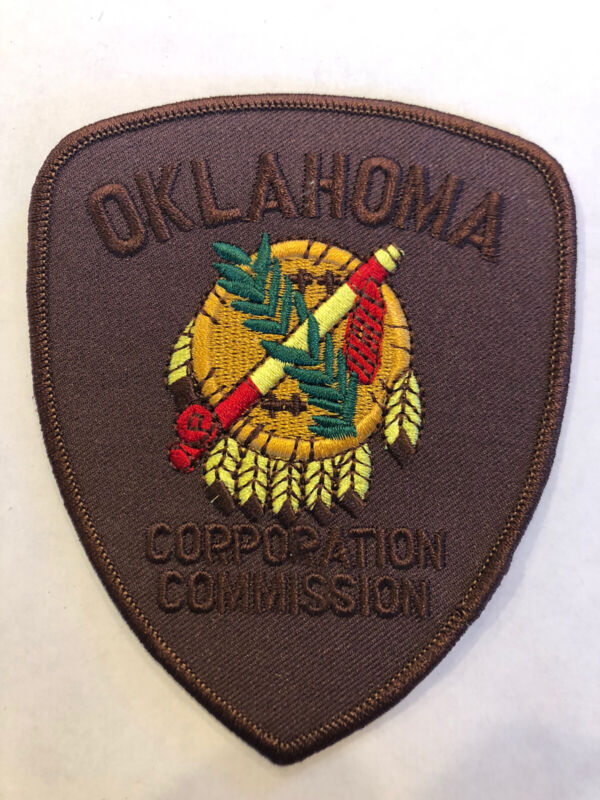Oklahoma Corporation Commission Law Enforcement Police Patch ~ New Condition