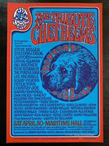 Chet Helms Tribute Ken Kesey Wavy Gravy Steve Miller Gregg Allman /250 Poster