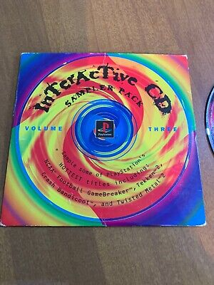 Sony PlayStation 1 Interactive CD Sampler Pack Volume Three 3 PS1 Demo Game Disc