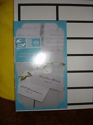 GARTNER PROGRAMS FOR PLACE CARDS BLACK BORDER 48CT - Black Place Cards