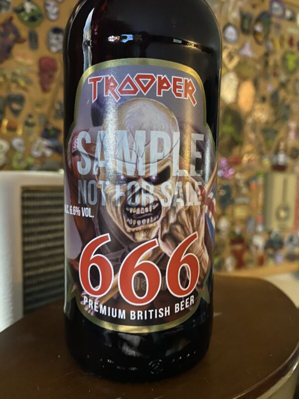 Iron Maiden Trooper 666 Limited Edition Beer SAMPLE Bottle RARE Brand New Sealed