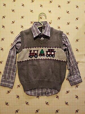 Dockers Boys Toddler 2 pcs Sweater Vest Set 3T Train