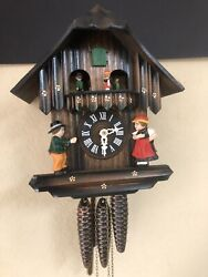 NEW Cuckoo Clock Black Forest Original Schwarzwalduhr German Wood Carving 11""