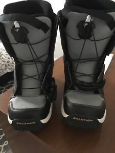 Salomon snowboarding boots size 5 women. Used 3 times.