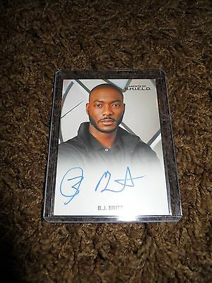 AGENTS OF SHIELD SEASON 2 B.J. BRITT AUTOGRAPH TRADING CARD