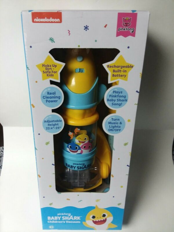Pinkfong Kids BABY SHARK MUSICAL LIGHT-UP VACUUM CLEANER Real Suction BRAND NEW