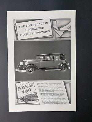 1929 Nash 400 - Original Full Page Vintage Art Deco Ad