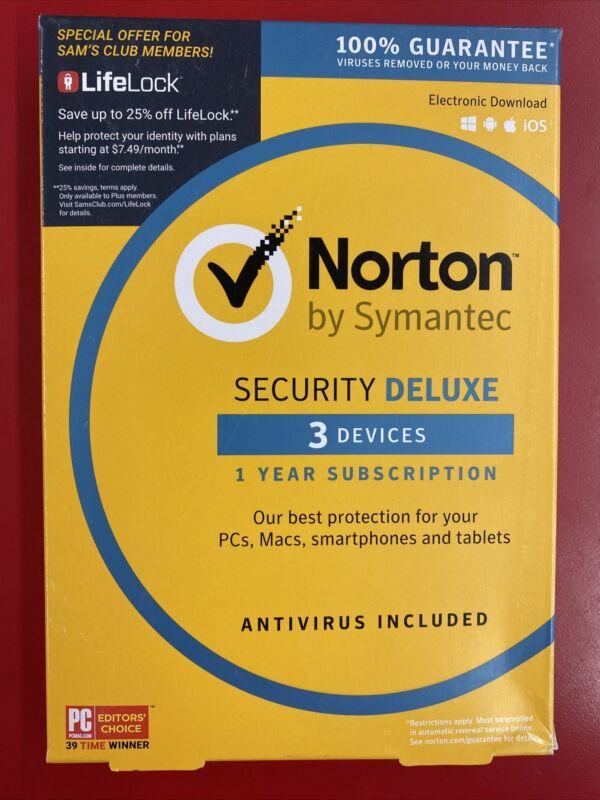 NORTON SECURITY DELUXE 3 DEVICE Symantec