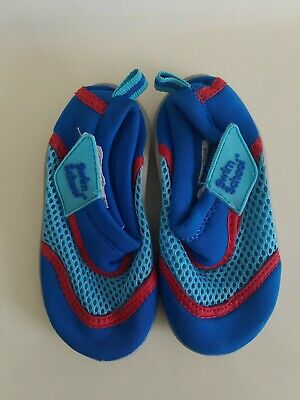 Baby Boy Girl Unisex Blue SWIM SCHOOL Water Shoes Size Small (5-6)