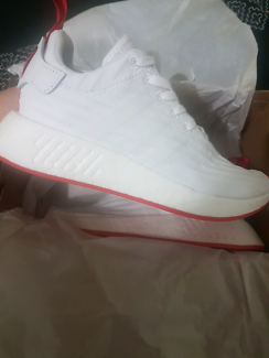 Adidas NMD r2 white/red brand new