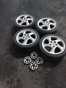 17x7.5 turbo twist rims with adapter/spacers mk4