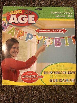 Sesame Street  Elmo Jumbo 10ft Happy Birthday Banner Kit Party Decoration Kids