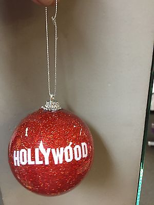 Hollywood Christmas Ornaments Hanging Plastic Ball with secured strip lit  - Hollywood Christmas Ornaments