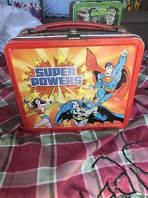 Vintage 1983 DC Super Powers Aladdin Metal Lunchbox Superman Batman Wonder Woman
