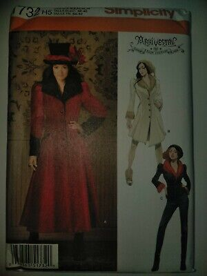 Simplicity Pattern 1732 H5 Steam Punk Haunt Couture Costume Size 6-14 New