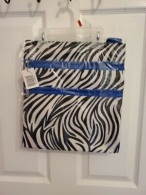 Zebra Print & Royal Blue Tote/Bag W/3 Zipper Compartments BRAND NEW WITH TAGS!