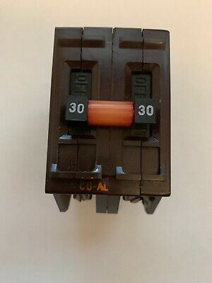 Wadsworth 30 Amp Double Pole 2p 30a Circuit Break Metal Feet Tested