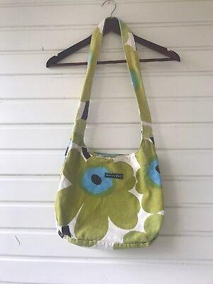 Used, Adorable Marimekko Shoulder Bag Canvas Crossbody  Great Unikko Print for sale  Finland