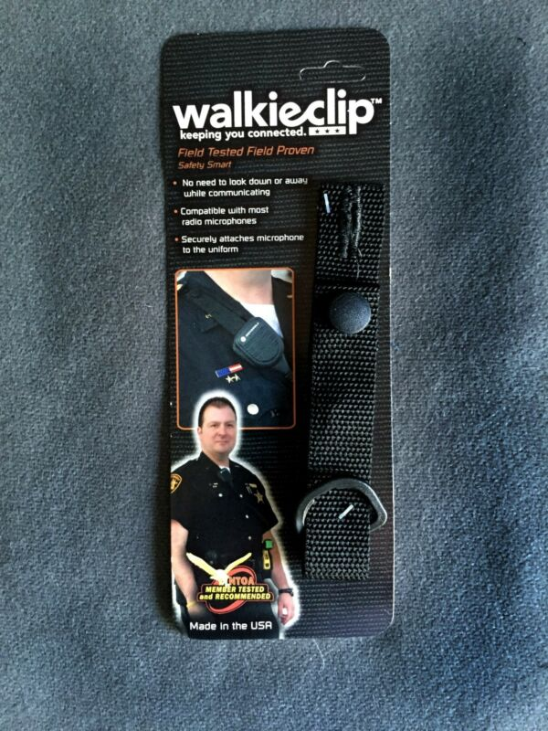 WalkieClip Epaulet Holder Shirt Attachment Police/Fire/EMT Radio