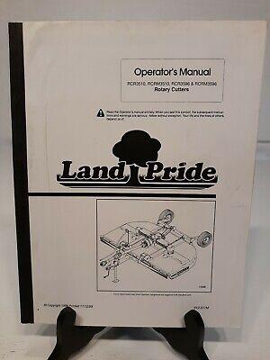 Land Pride Rotary Cutter Bush Hog Brush Hog Operators Manual See Pics For S