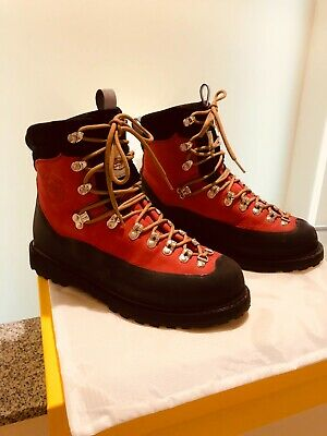 RARE RED DIEMME EVEREST HIKING BOOTS SIZE 10 US 43 EUR MSRP ITALY