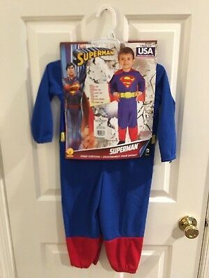 NEW Child's Superman Halloween Costume Dress Up Toddler Size 2/4 - Toddler Superman Halloween Costume