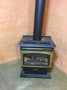 Natural gas fireplace/stove