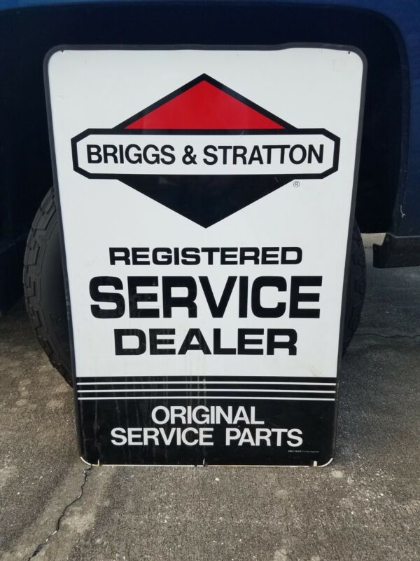 2x3 Briggs And Stratton Engine Repair Service Sign & Dealer Sales Parts