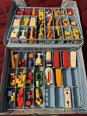 Vintage 1970s-80's Matchbox Die Cast Cars -43 Cars & Car Case