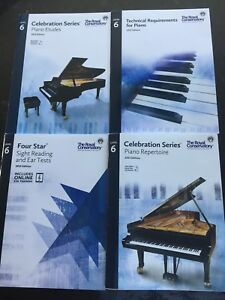 RCM level 6 piano books (All four)
