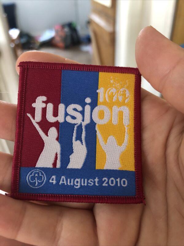 Girl Guiding Fusion 100 Centenary (4th August 2010) Woven Badge