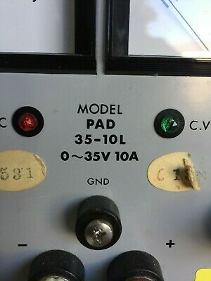 Kikusui Pad35-10l Dc Power Supply 0-35v0-10a Good