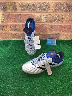 ADIDAS COPA OUTCLASS 18.1 FG FOOTBALL BOOTS - SILVER / BLUE - SIZE UK 9