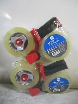 2x Office Depot 1.89x109.3 Heavy-duty Shipping 2-rolls Tape Wgun Dispenser