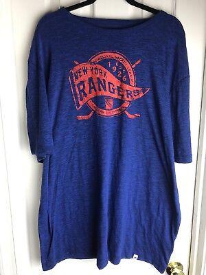 NEW NHL NY New York Rangers T Shirt Majestic Hockey 2xl 2xg classic msrp $32 ()