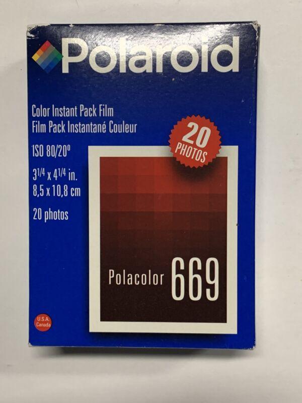 Polaroid 669 Exp 6/2000 Double Pack (20 Photos) Color Film ISO 80 Polacolor