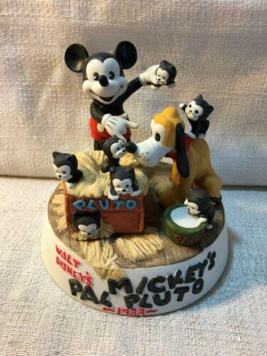Walt Disney Cartoon Classics Mickeys Pal Pluto Mickey Mouse Porcelain Figurine